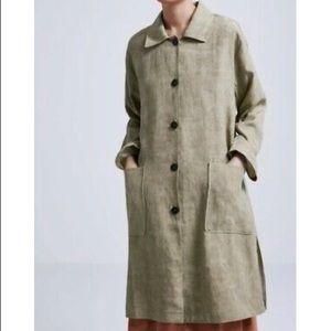 Zara Linen Coat
